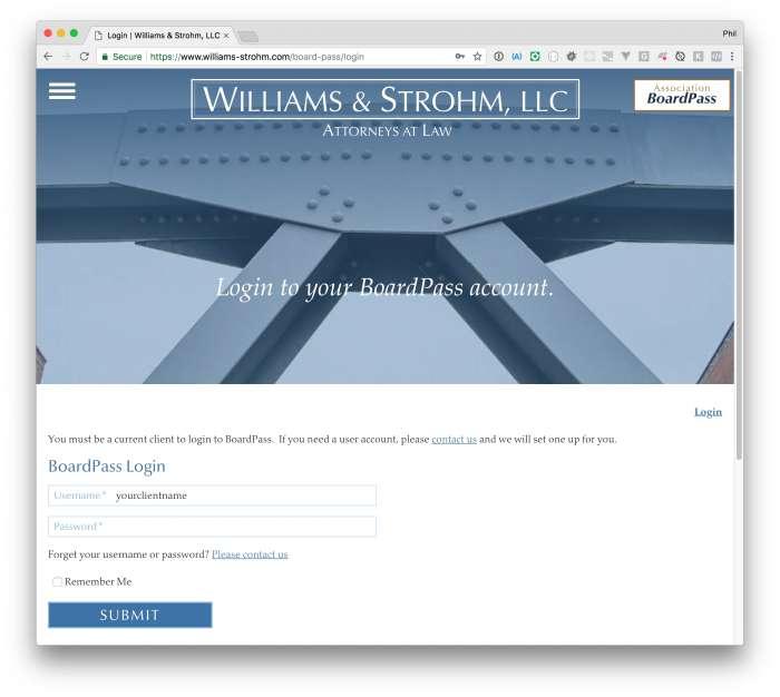 BoardPass Login Page